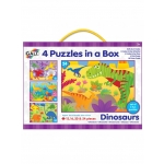 4 PUZZELS IN BOX - DINOSAURUSSEN