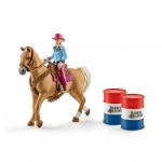 SCHLEICH - BARREL RACING MET COWGIRL